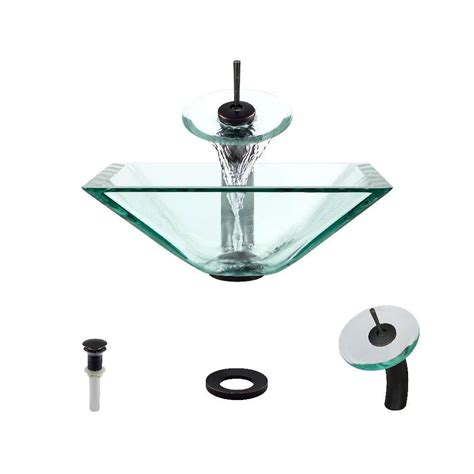 mr direct sinks and faucets mr direct glass vessel in clear with 731 faucet and