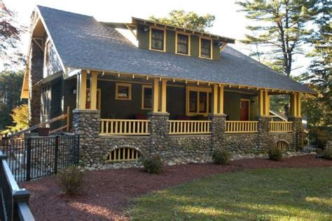 arts and crafts style homes arts and crafts style house double stacked stone columns craftsman style exteriors