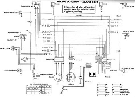 honda ct70 clymer electrical wiring diagram circuit