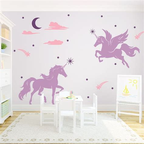 Unicorn Room Decor Best 25 Unicorn Wall Decal Ideas On Wall Stickers Unicorn Geometric Unicorn