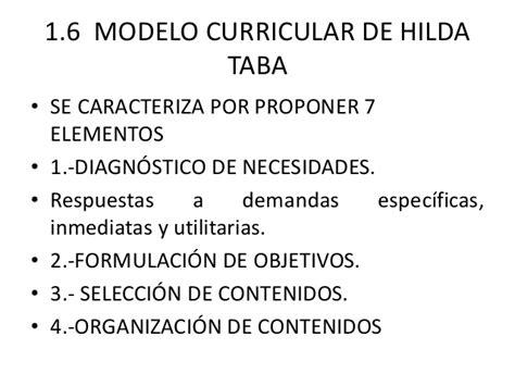 Criticas Al Modelo Curricular De Hilda Taba Dise 241 O