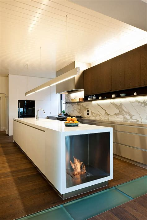 Electric Fireplaces Island by Trends Give Your Kitchen A Sizzling Makeover With A Fireplace