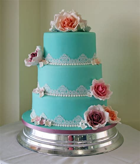 Wedding Cake 3 Tier by 3 Tier Vintage Lace Wedding Cake Bakealous