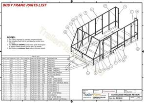 Design Blueprints 4m Enclosed Motorbike Trailer Plan