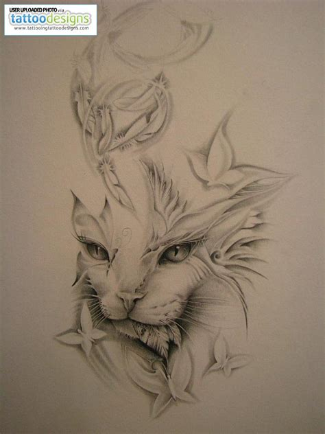 tattoo cat wild tattoos cat tattoo designs