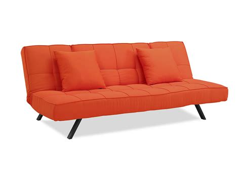 futon convertible copa convertible sofa tangerine by serta lifestyle