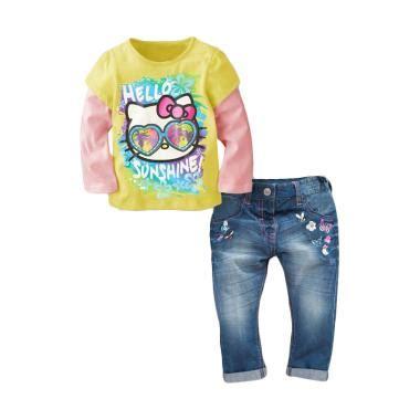Baju Anak Setelan Yellow Flower jual pakaian baju anak perempuan branded harga bersaing