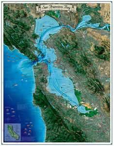 San francisco bay map coastal california series