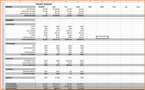 budgeting excel template spreadsheet free download by safetynet
