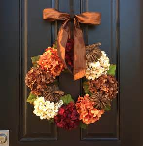door wreaths for hydrangea wreath fall wreath front door wreaths by