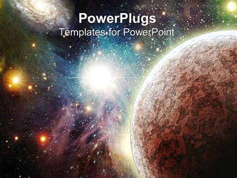 powerpoint themes universe powerpoint template view of the universe with planets
