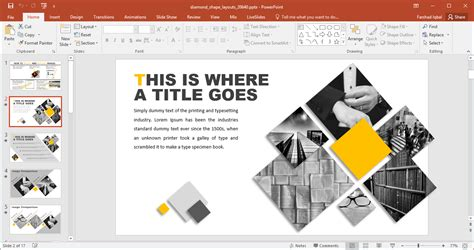 design layout powerpoint 2007 animated diamond shape layouts for powerpoint
