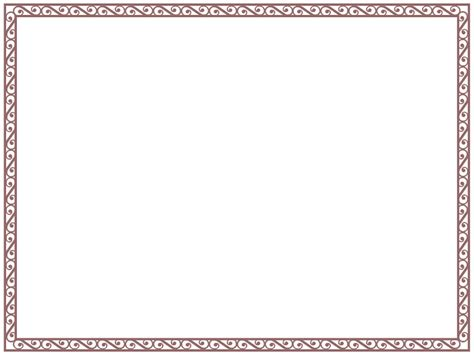 Border Templates For Word Mughals Border Template