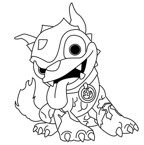 Skylanders Thumpback Coloring Pages Skylanders Giants Hot Dog Coloring Pages Zonedimusica Skylander Giants Coloring Pages