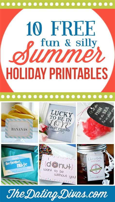10 Amazing Dates That Are Almost Free by 101 Free Summer Printables