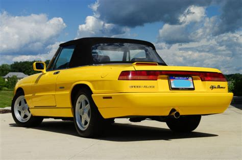 1993 Alfa Romeo Spider For Sale by 1993 Alfa Romeo Spider Veloce Fly Yellow For