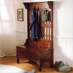 Entryway Storage Bench With Coat Rack Entryway Tree Coat Rack With Storage Bench In Cherry Finish Coats Trees And Coat Rack