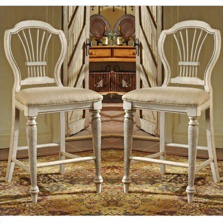Hillsdale Wilshire Bar Stools by Hillsdale Wilshire White 24 Inch Counter Stool Set Of 2