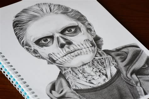 speed drawing tate langdon american horror story