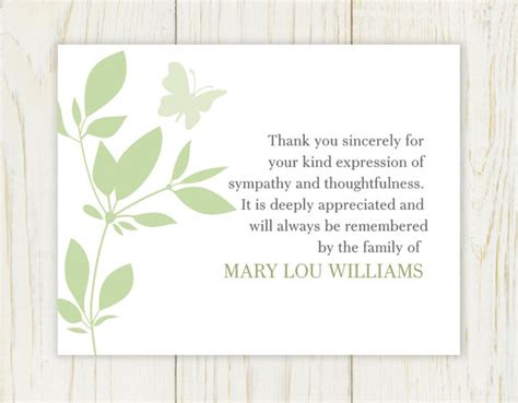 printable gift vouchers australia butterfly funeral thank you card digital file sympathy