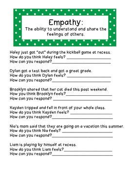 empathy activities for kids 19 fun ways to teach kids a worksheet to help students learn what empathy is and how