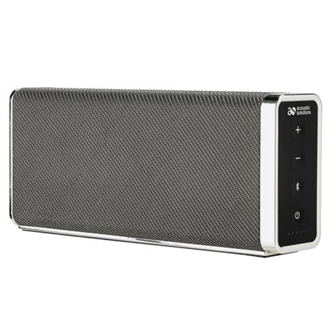 acoustic solutions bluetooth wireless speakers black