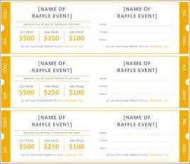 Raffle Ticket Templates by 21 Ticket Templates Free Premium Templates