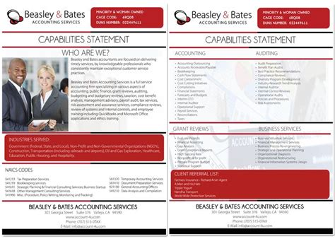 10 Best Images About Capabilities Statement On Pinterest Washington Advertising And Colors Capabilities Deck Template