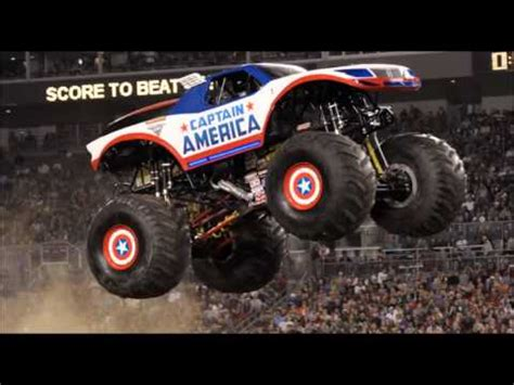 monster jam truck theme songs monster jam theme songs captain america youtube