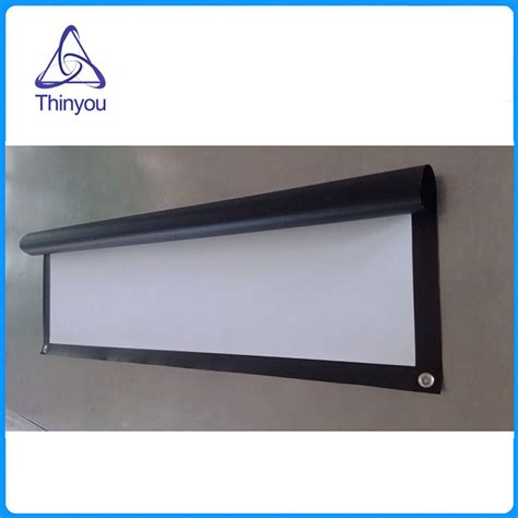 curtain projector screen thinyou portable 84inch 4 3 projector screen finished edge