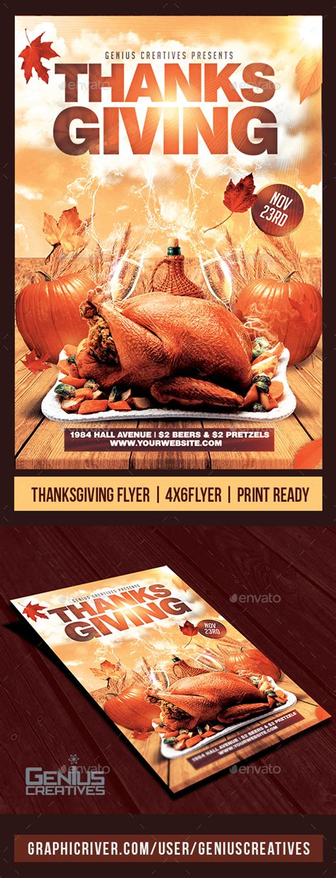 Thanksgiving Flyer Template V2 By Geniuscreatives Graphicriver Thanksgiving Flyer Template