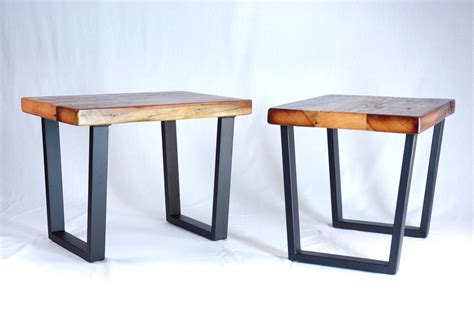 custom industrial reclaimed timber end table set by jonathan january custommade com