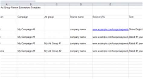 Adwords Templates Archives Page 4 Of 6 My Excel Templates Adwords Editor Excel Template