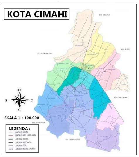 Peta Lipat Kota Cimahi profil kota cimahi geografi regional indonesia
