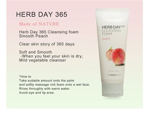 Jual The Shop Herb Day 365 Cleansing Foam jual the shop herb day 365 cleansing foam korean