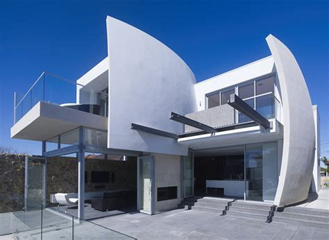 Modern Concrete Home Plans Concrete Walls Home Inspired By Ship Sails