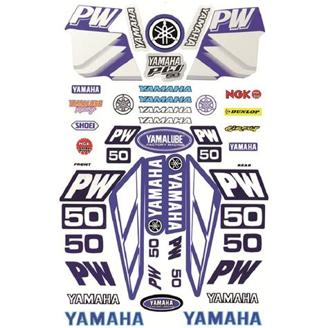 Sticker For Yamaha Pw50 by Mcs Yamaha Pw50 Decal And Sticker Kit At Mxstore
