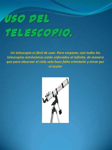 imagenes satelitales y su uso uso del telescopio