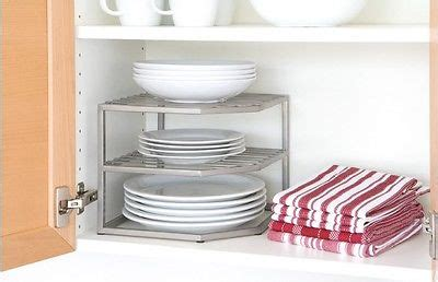 kitchen cabinet plate organizers kitchen 2 tier corner dish organizer rack storage shelf
