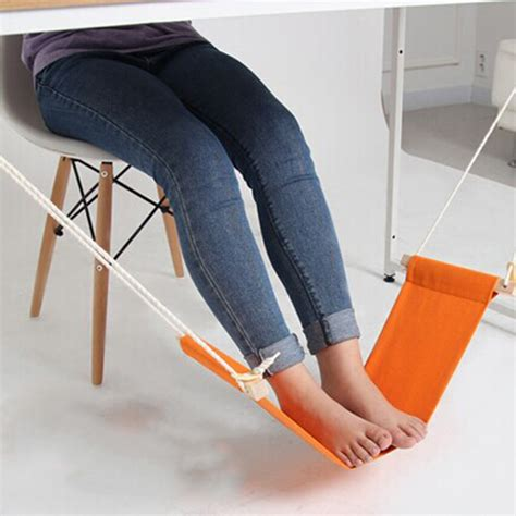 Hammock Multifungsi mini hammock tablet foot rest pijakan kaki meja orange jakartanotebook