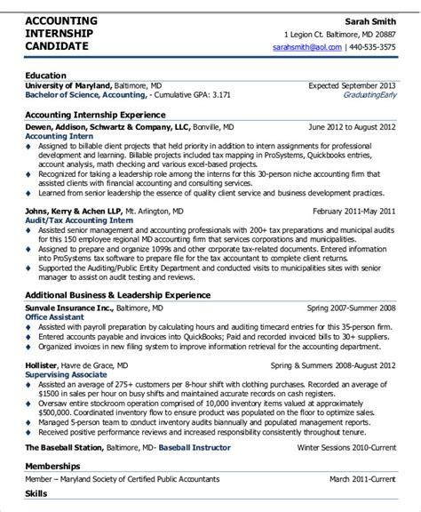 accounting curriculum vitae template 10 internship curriculum vitae templates pdf doc free premium templates