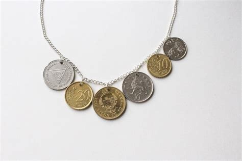 how to make coin jewelry diy coin necklace paperblog