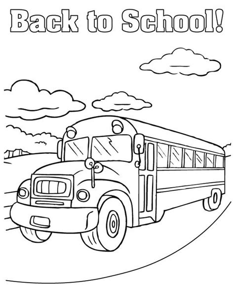 Back To School Coloring Pages Free Printables School Back To School Coloring Page