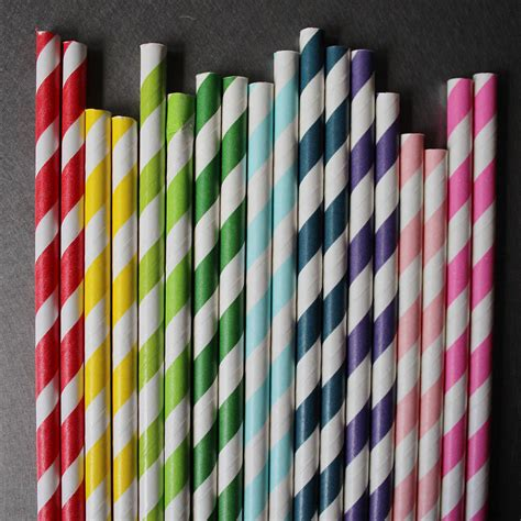 How To Make Paper Straws - striped paper straws by pearl and earl