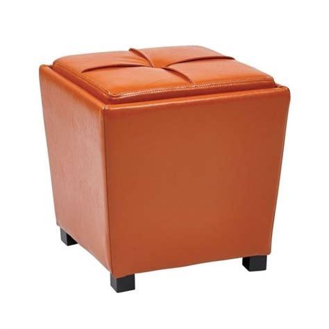 vinyl orange ottoman 2 piece vinyl ottoman set in orange met361v pb18