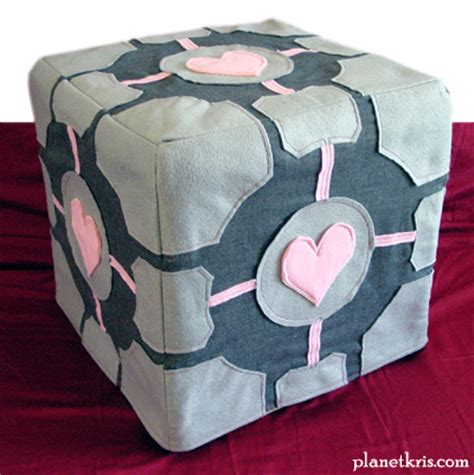 companion cube ottoman weighted companion cube totally sweet sew craft planetkris