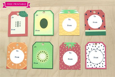 free printable gift tags summer free printable fruity summer tags printables pinterest