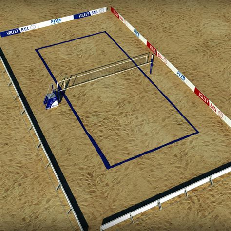 how to make a beach volleyball court in your backyard 3d model beach volleyball court low poly vr ar low