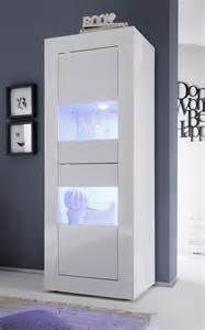 vitrine blanc laqu 2 portes avec clairage led en option