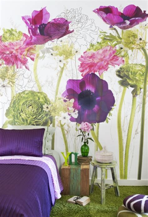 blumen für schlafzimmer wohnzimmer mit farben gestalten